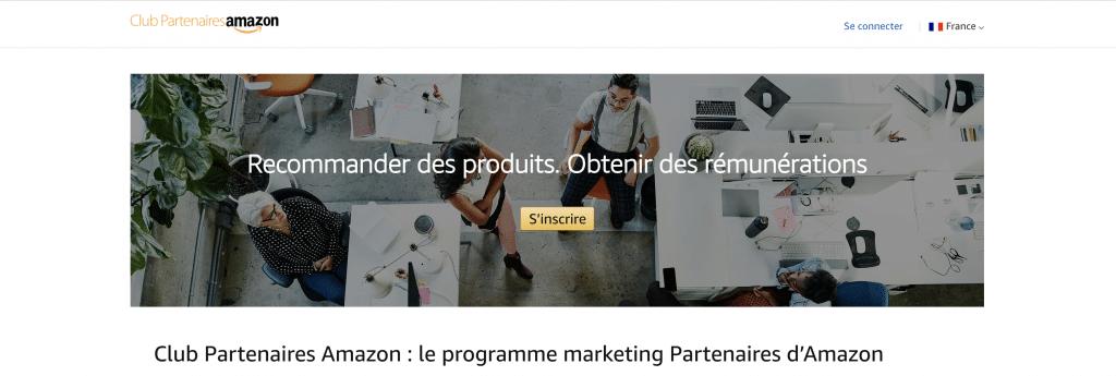 Programme partenaire d'affiliation amazon
