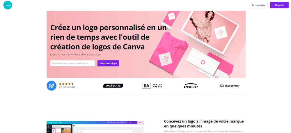 Canva pour créer un logo