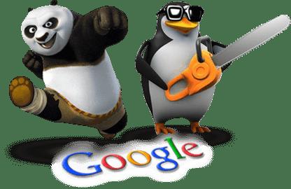Illustration d'un panda et d'un pengouin