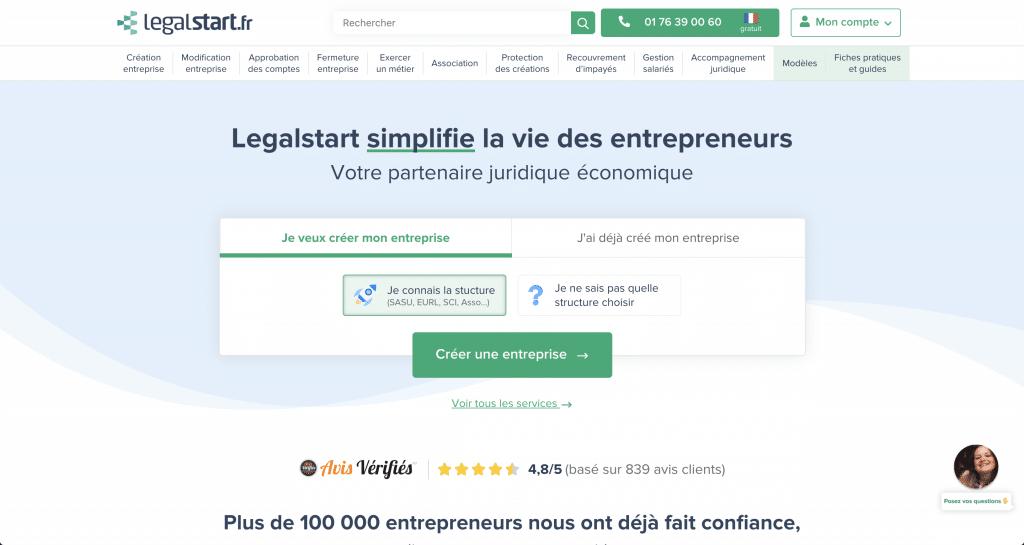 Legalstart: un site pour créer son entreprise en ligne