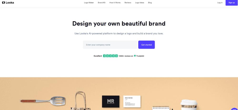 L'outil de création de logo Looka