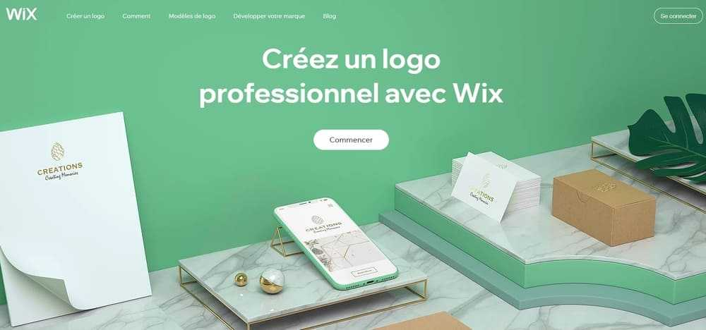 Wix pour créer un logo