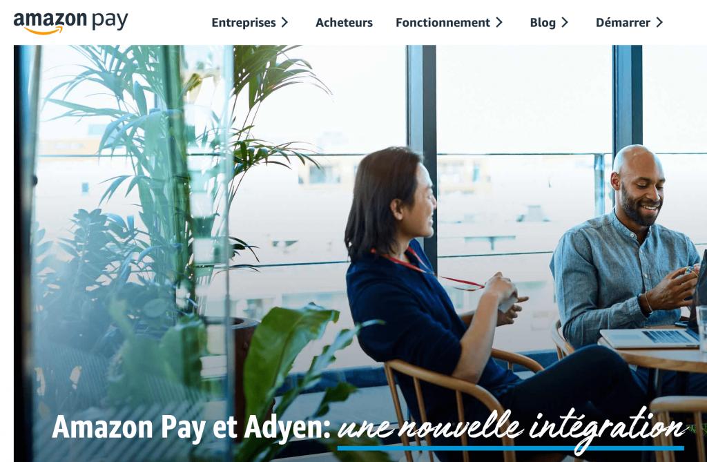 Solution de paiement en ligne Amazon Pay
