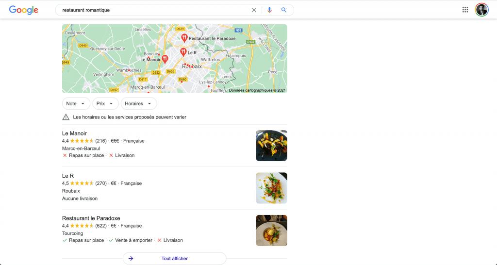 Le pack local de google en SEO