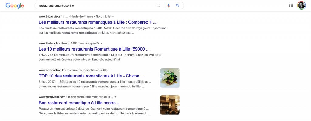 Recherche local sur Google