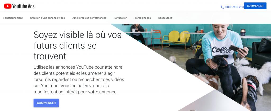 Faire de la publicité sur internet en vidéo avec Youtube Ads