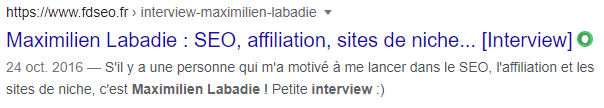 Exemple d'interview