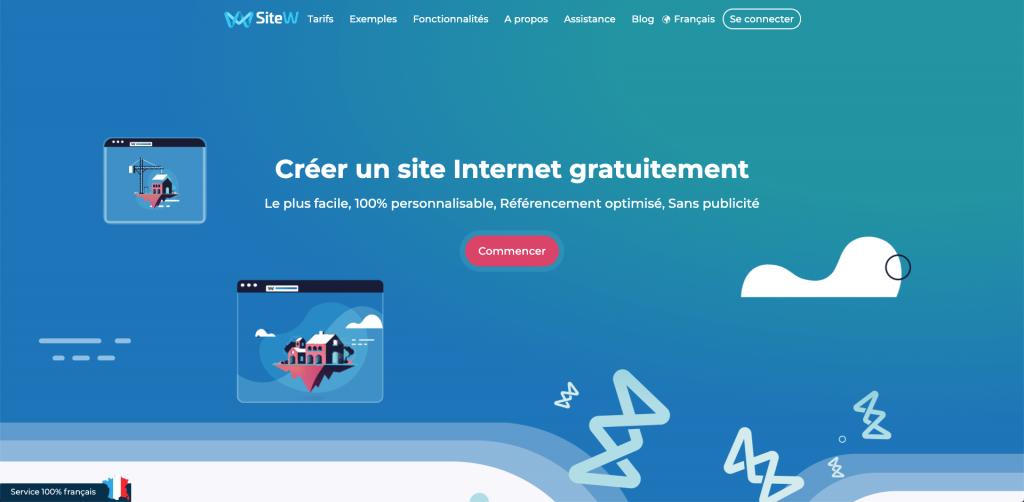 créer un site internet avec sitew