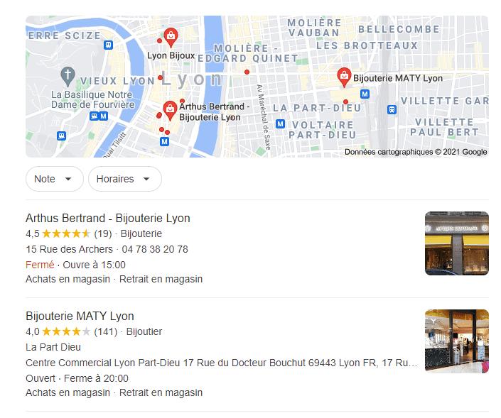 référencement sur google maps