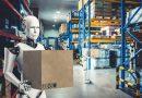 Châîne logistique avec robot humanoïde